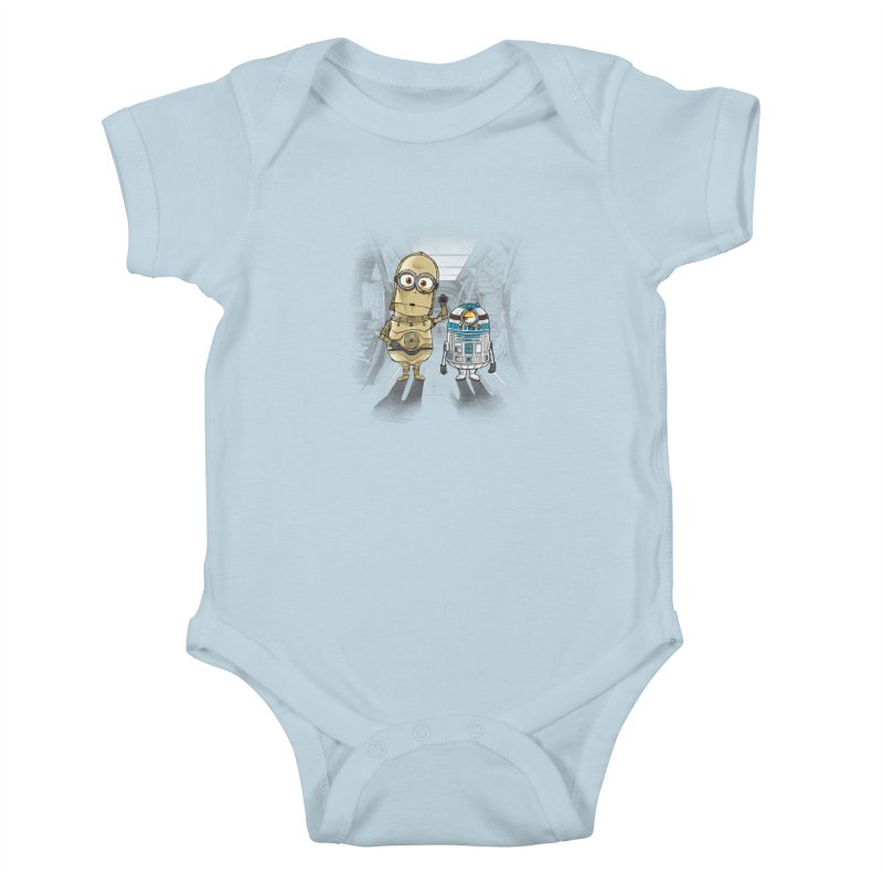 M2D2 AND M3PO Kids Baby Bodysuit by zakeu's Artist Shop