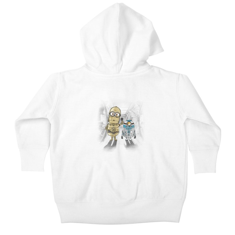 M2D2 AND M3PO Kids Baby Zip-Up Hoody by zakeu's Artist Shop