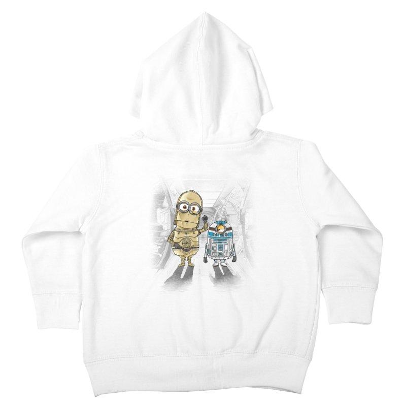 M2D2 AND M3PO Kids Toddler Zip-Up Hoody by zakeu's Artist Shop