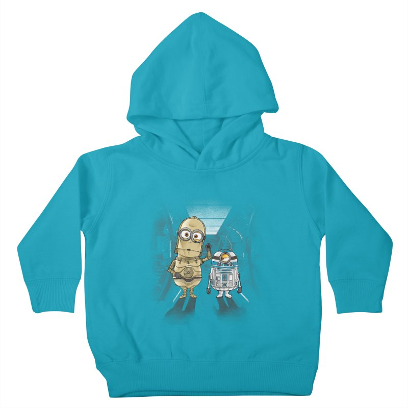 M2D2 AND M3PO Kids Toddler Pullover Hoody by zakeu's Artist Shop