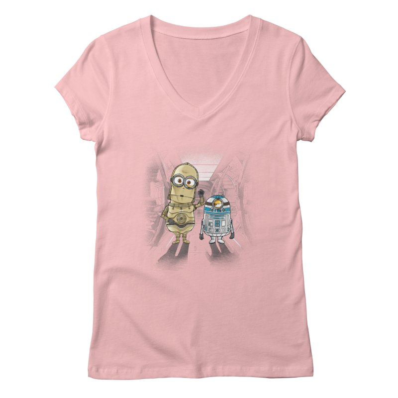 M2D2 AND M3PO Women's V-Neck by zakeu's Artist Shop