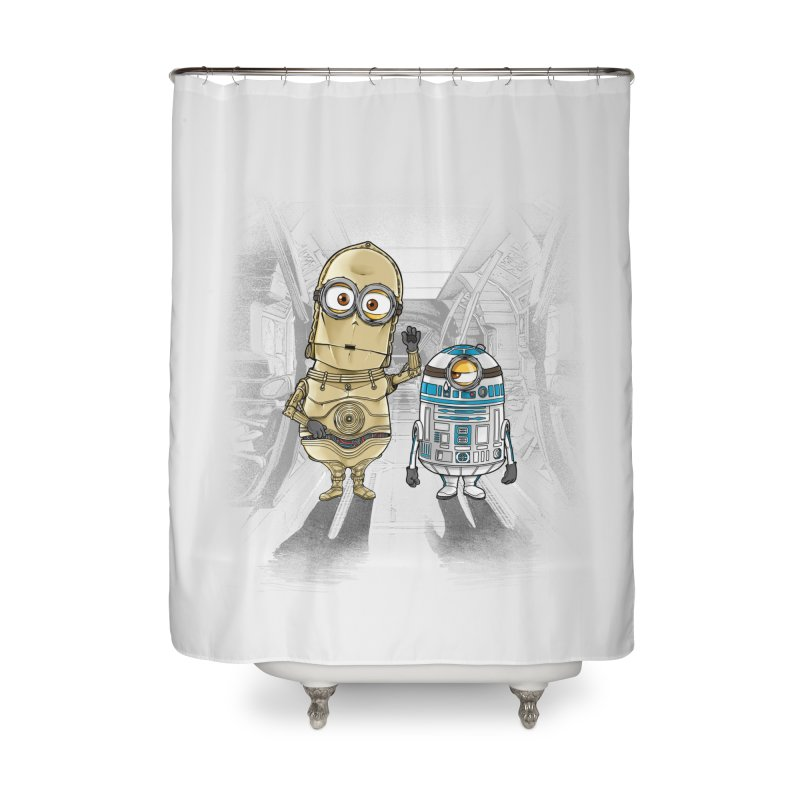 M2D2 AND M3PO Home Shower Curtain by zakeu's Artist Shop
