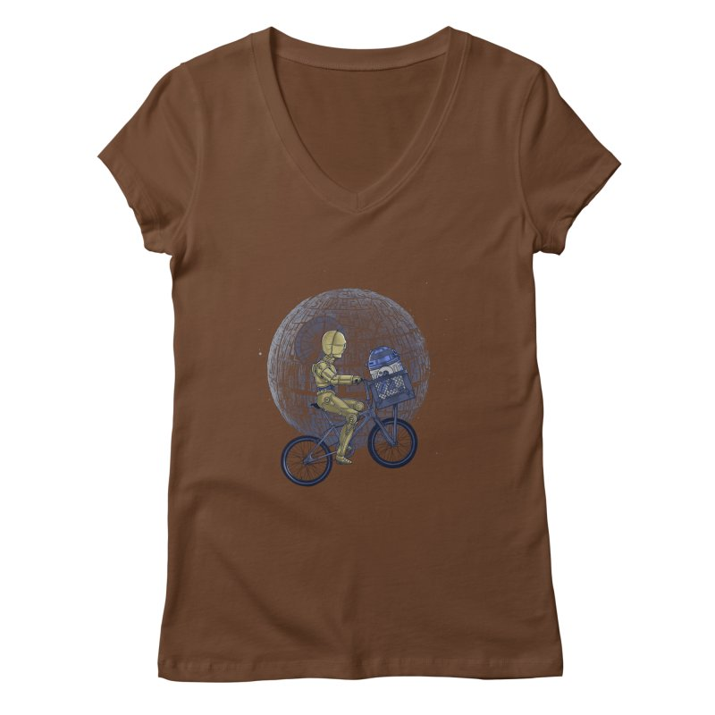 Coming Home Women's V-Neck by zakeu's Artist Shop