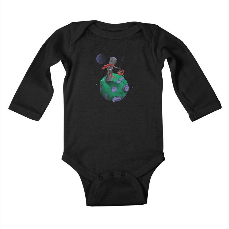 Star Prince Kids Baby Longsleeve Bodysuit by zakeu's Artist Shop