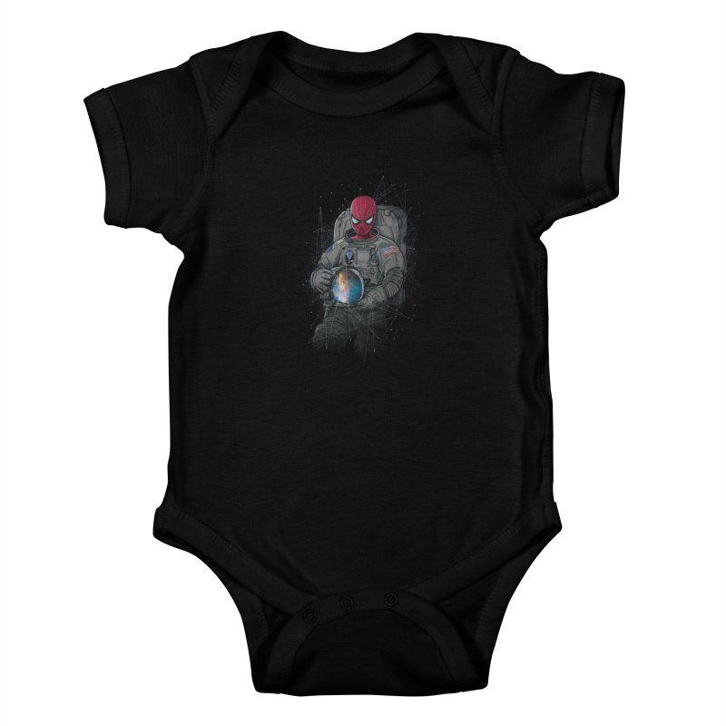 SPIDER-NAUT Kids Baby Bodysuit by zakeu's Artist Shop