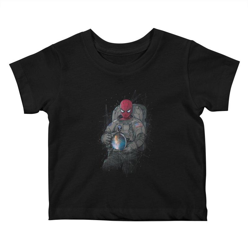 SPIDER-NAUT Kids Baby T-Shirt by zakeu's Artist Shop