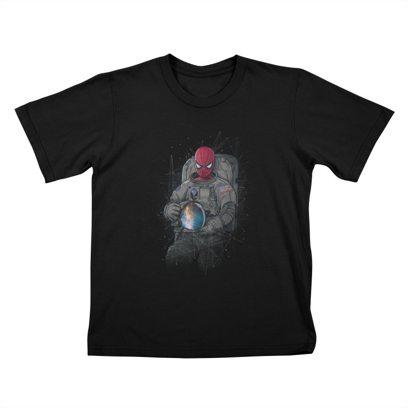 SPIDER-NAUT Kids T-Shirt by zakeu's Artist Shop