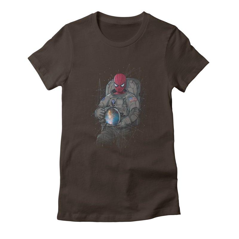 SPIDER-NAUT Women's Fitted T-Shirt by zakeu's Artist Shop