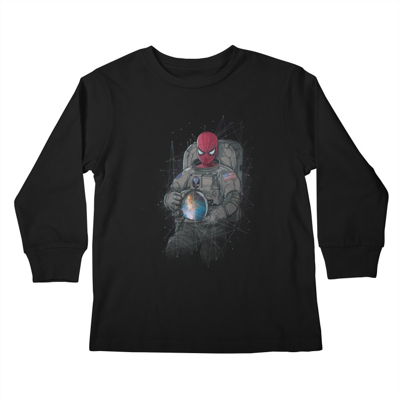 SPIDER-NAUT Kids Longsleeve T-Shirt by zakeu's Artist Shop