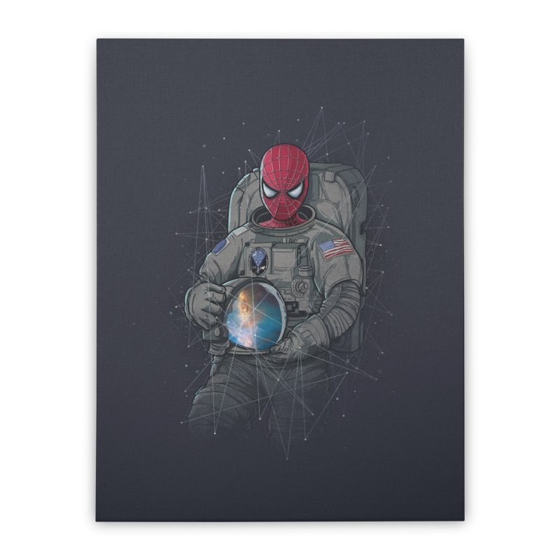 SPIDER-NAUT Home Stretched Canvas by zakeu's Artist Shop