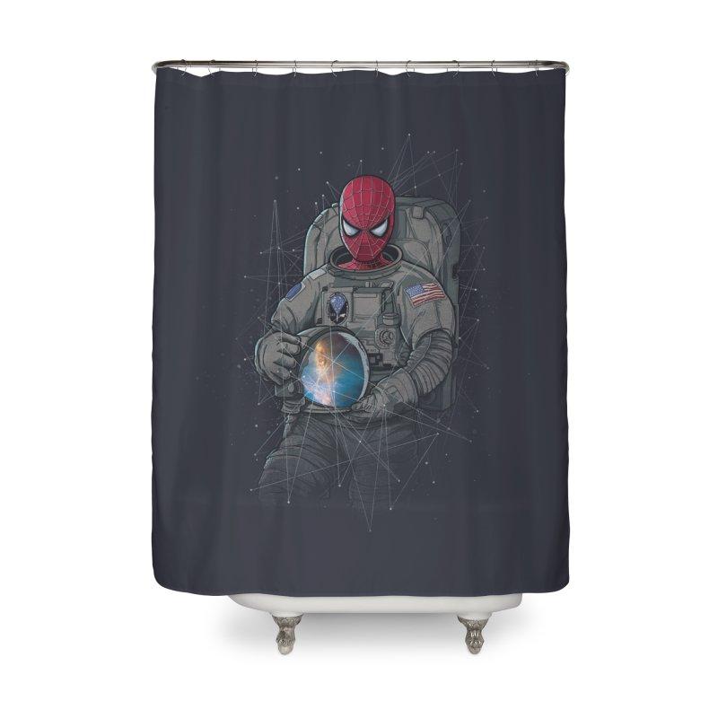 SPIDER-NAUT Home Shower Curtain by zakeu's Artist Shop