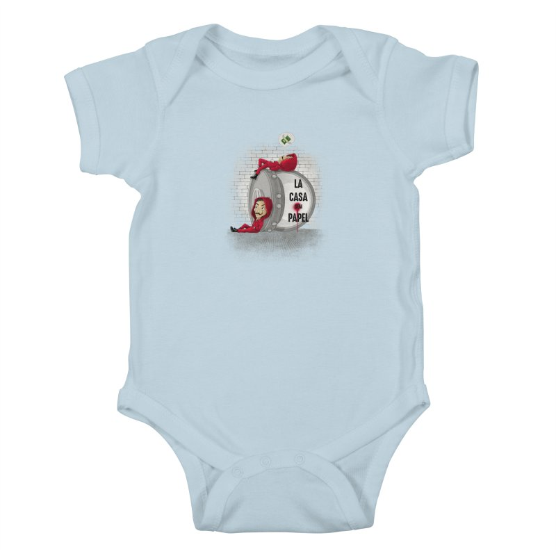 La casa sem papel Kids Baby Bodysuit by zakeu's Artist Shop