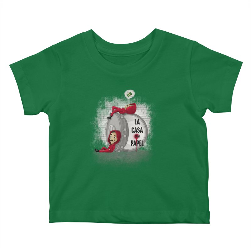 La casa sem papel Kids Baby T-Shirt by zakeu's Artist Shop