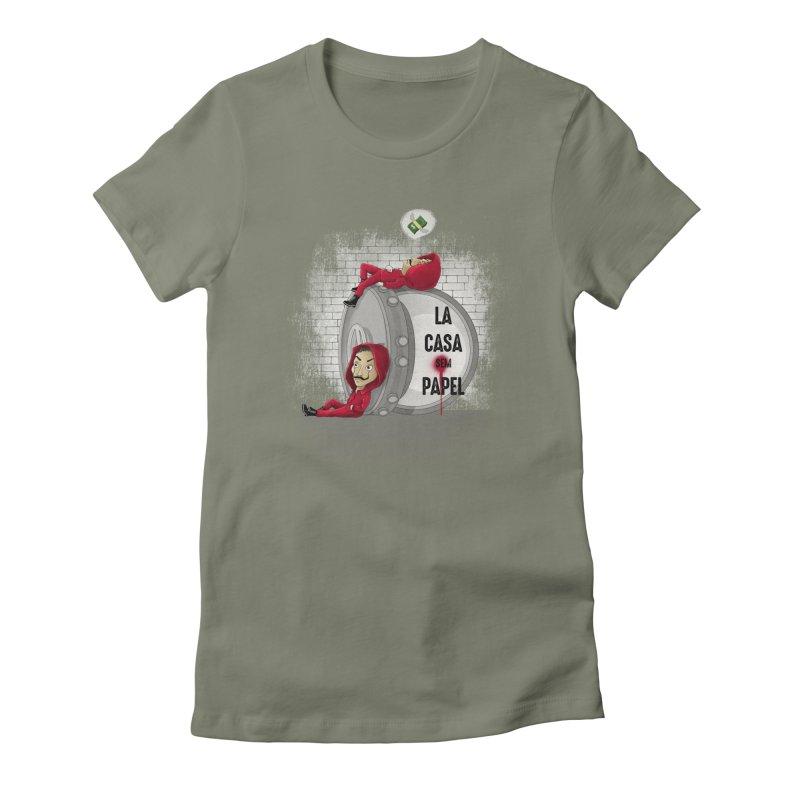 La casa sem papel Women's Fitted T-Shirt by zakeu's Artist Shop
