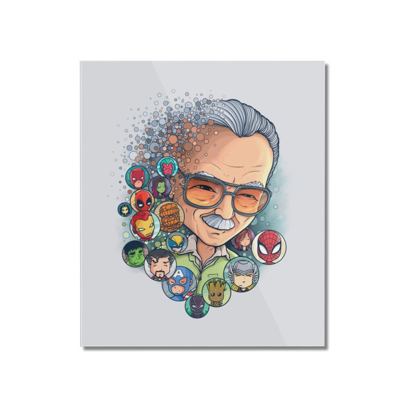 FOREVER STAN LEE Home Mounted Acrylic Print by zakeu's Artist Shop