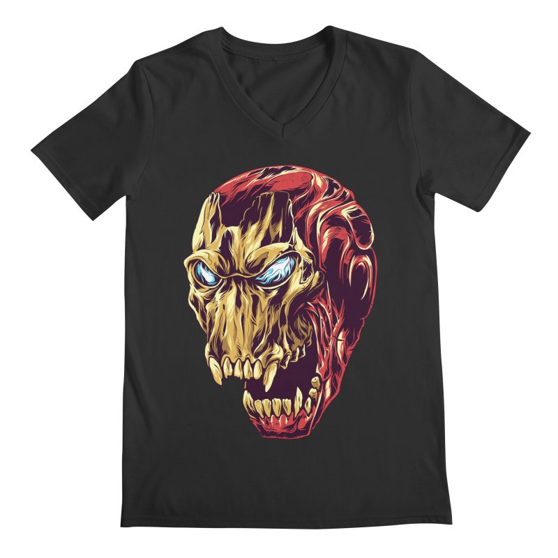 IRON BEAST Men's V-Neck by zakiihamdanii's Artist Shop