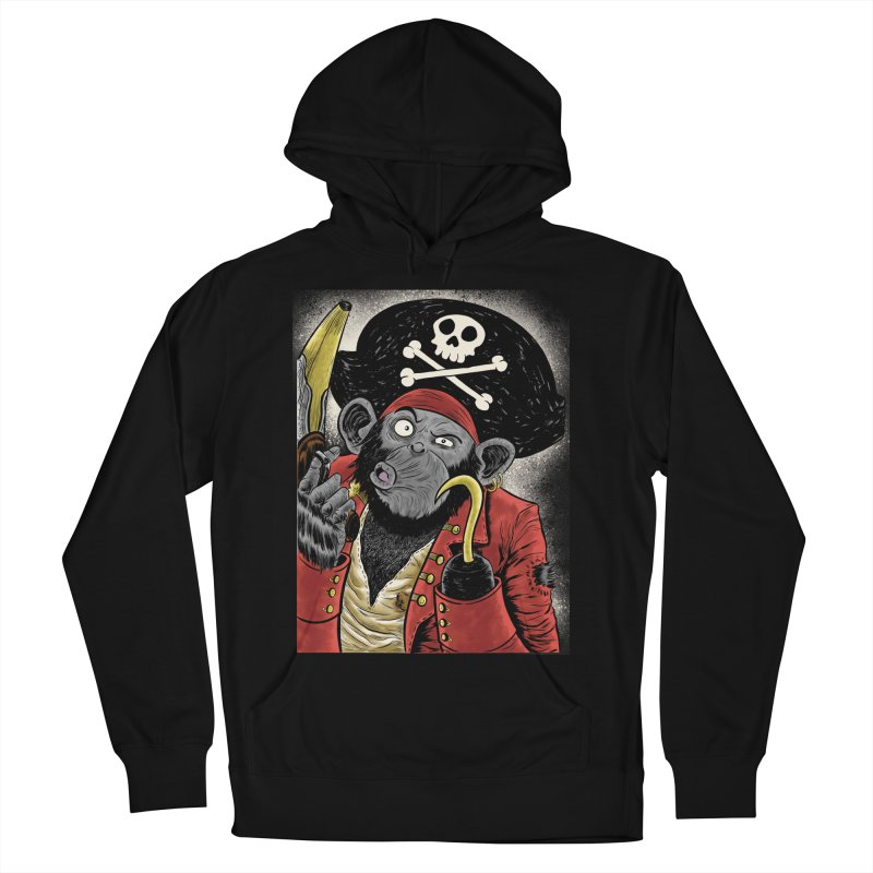 Captain Ook Ook Men's French Terry Pullover Hoody by zakkinsella's Artist Shop