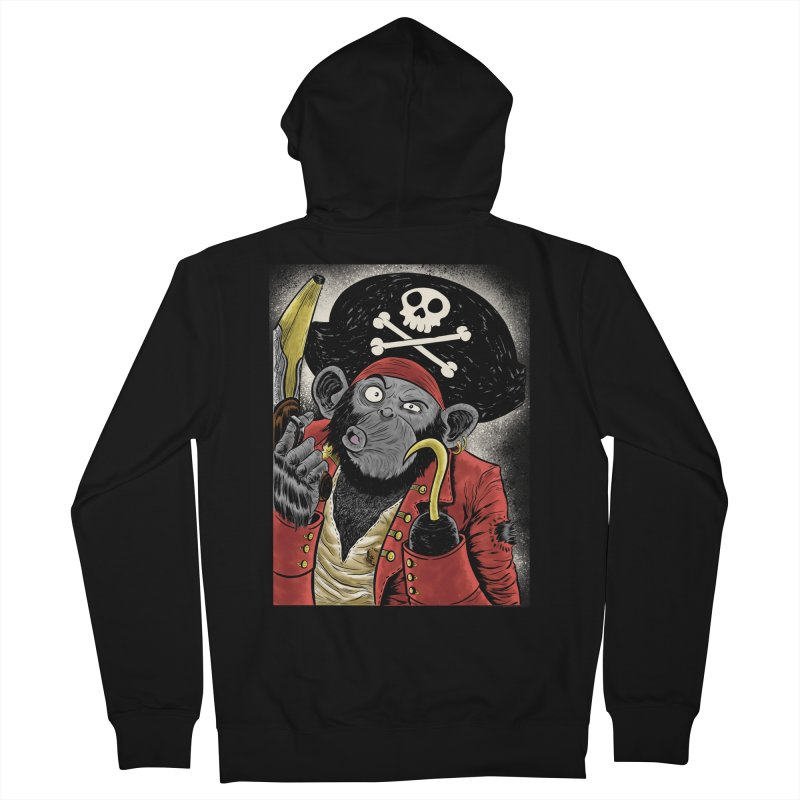 Captain Ook Ook Women's Zip-Up Hoody by zakkinsella's Artist Shop