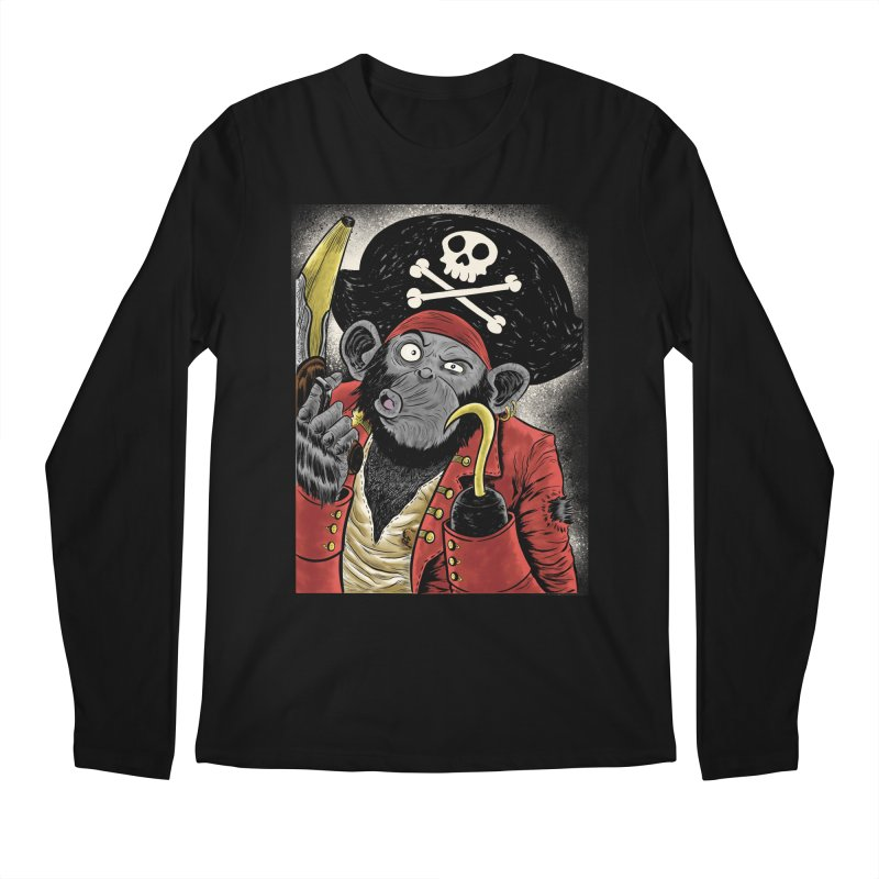 Captain Ook Ook Men's Regular Longsleeve T-Shirt by zakkinsella's Artist Shop