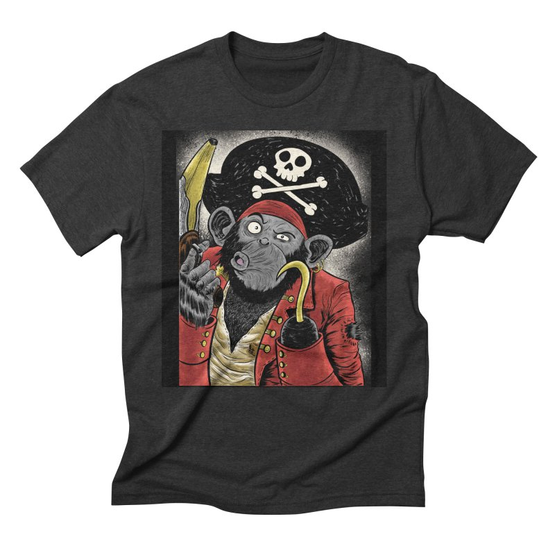 Captain Ook Ook Men's Triblend T-Shirt by zakkinsella's Artist Shop