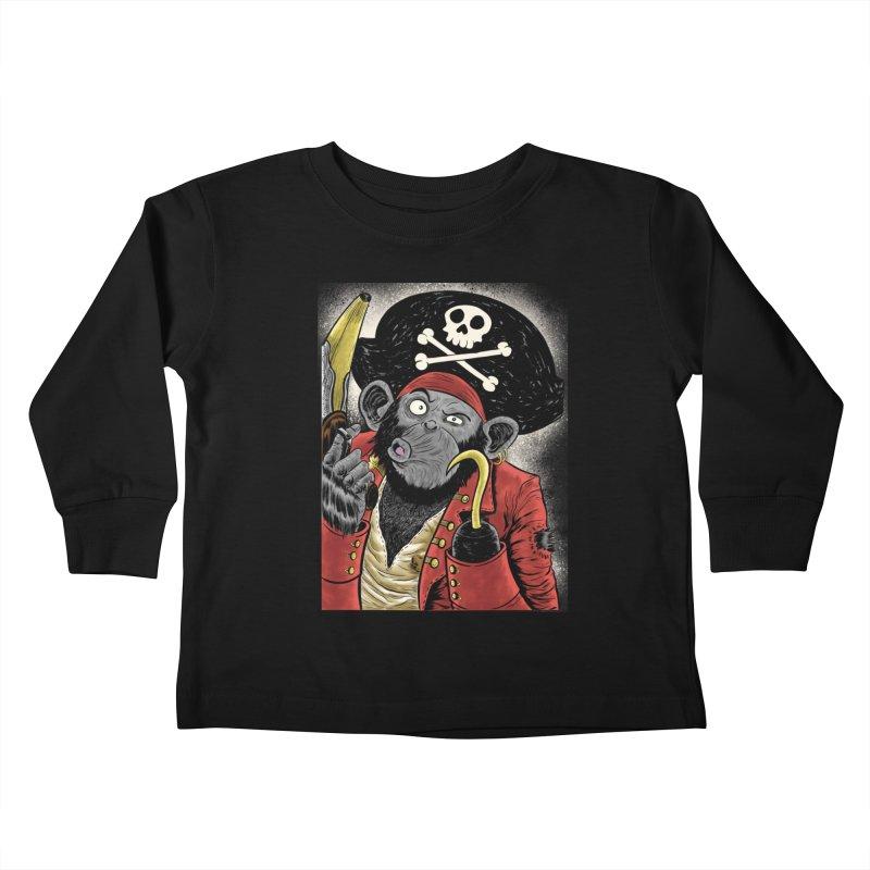 Captain Ook Ook Kids Toddler Longsleeve T-Shirt by zakkinsella's Artist Shop