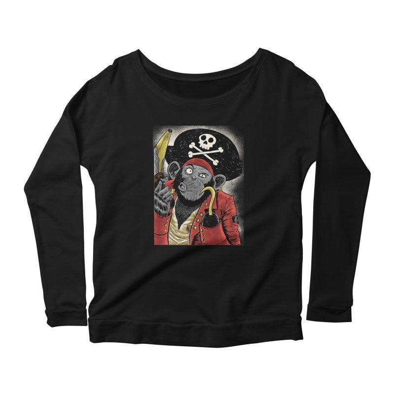 Captain Ook Ook Women's Longsleeve Scoopneck  by zakkinsella's Artist Shop
