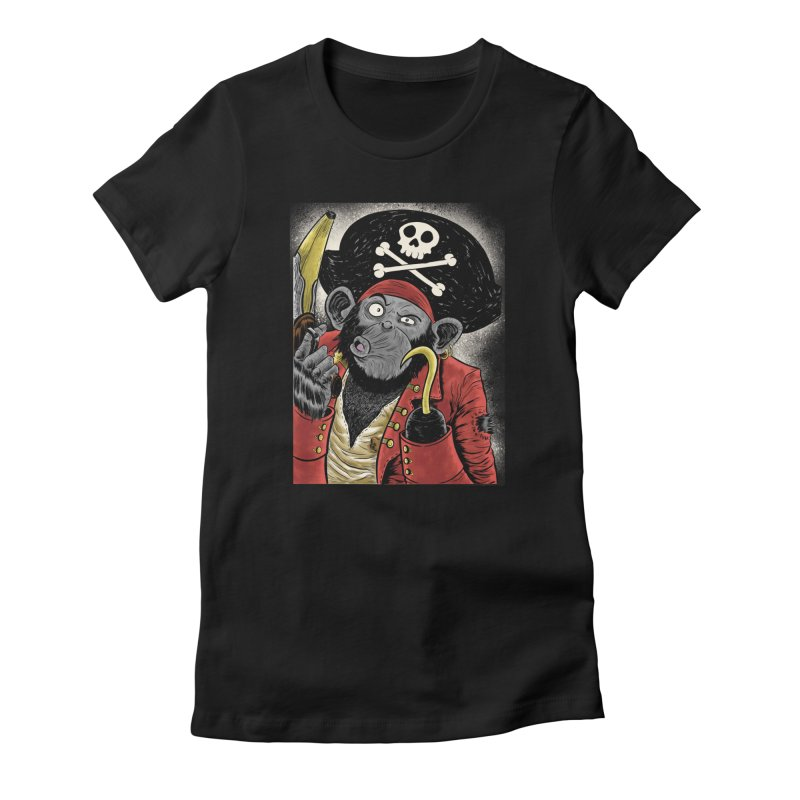 Captain Ook Ook Women's Fitted T-Shirt by zakkinsella's Artist Shop