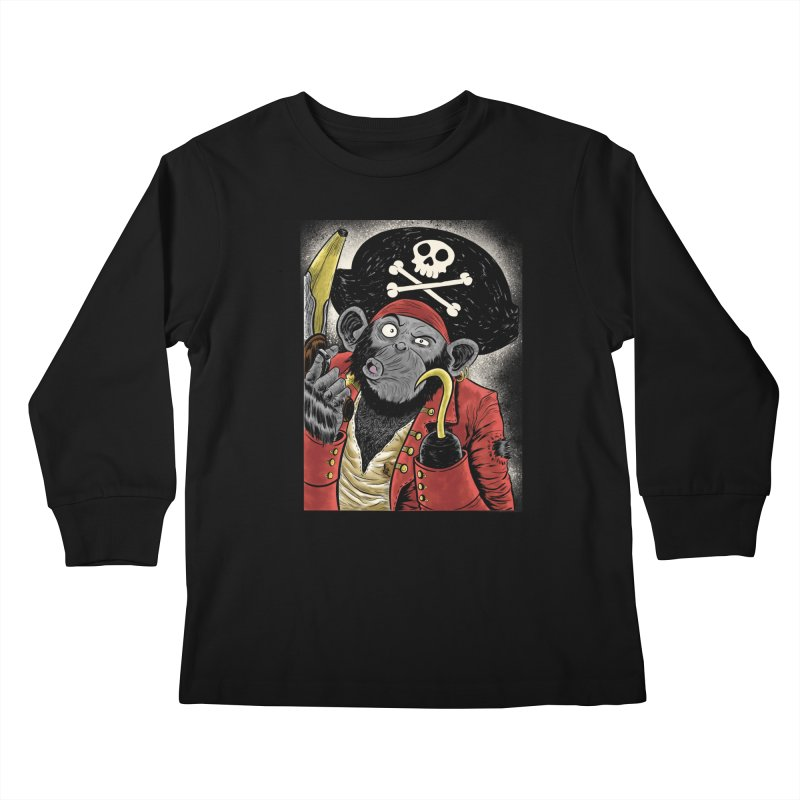 Captain Ook Ook Kids Longsleeve T-Shirt by zakkinsella's Artist Shop