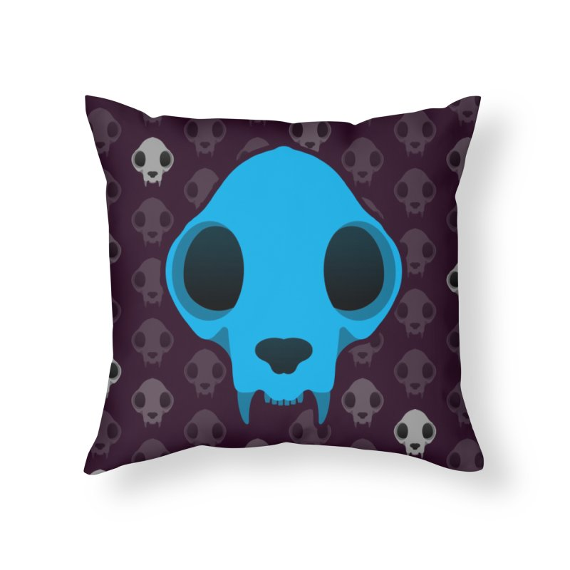 Felis Skullus Home Throw Pillow by Zammies
