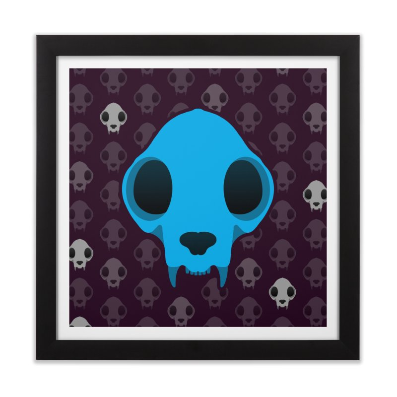Felis Skullus Home Framed Fine Art Print by Zammies