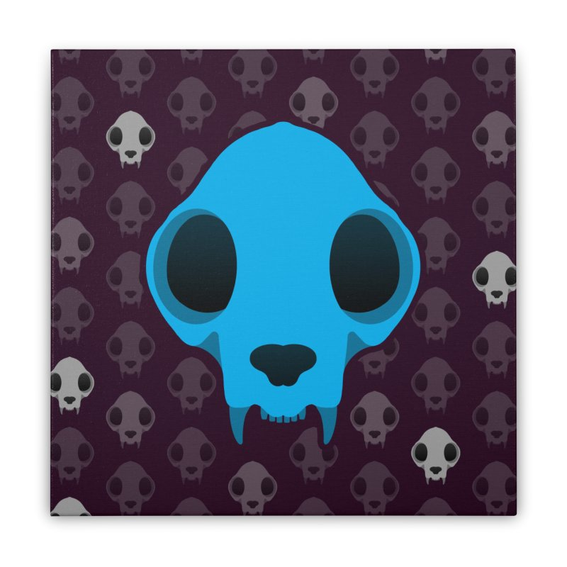 Felis Skullus Home Stretched Canvas by Zammies