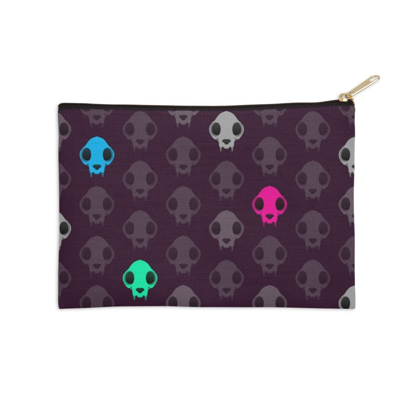 Felis Skullus Accessories Zip Pouch by Zammies