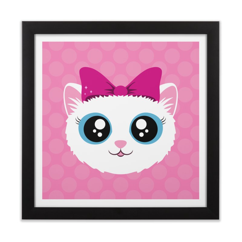 Kitty Girl Home Framed Fine Art Print by Zammies