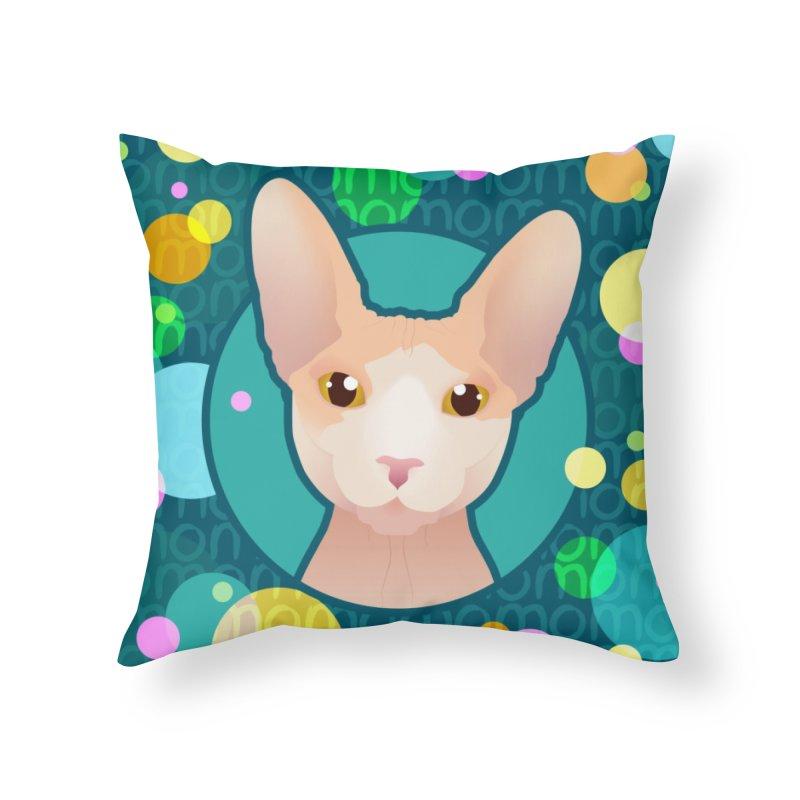 Mochi Home Throw Pillow by Zammies
