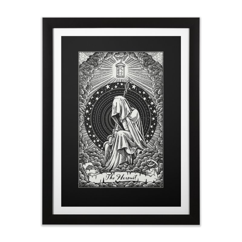 The Hermit Black Edition Home Framed Fine Art Print by artKillo Artist Shop