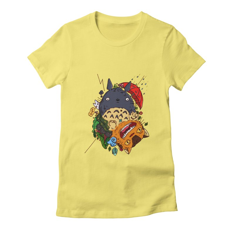 Totototoro 2.0 Women's Fitted T-Shirt by zapatoverde's Shop