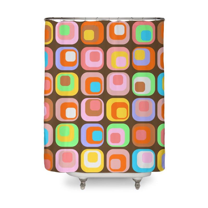 zappwaits - Retro Home Shower Curtain by zappwaits Artist Shop