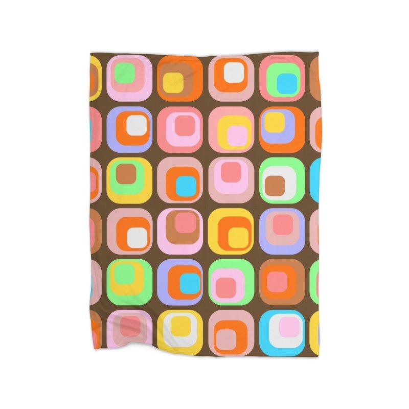 zappwaits - Retro Home Fleece Blanket Blanket by zappwaits Artist Shop
