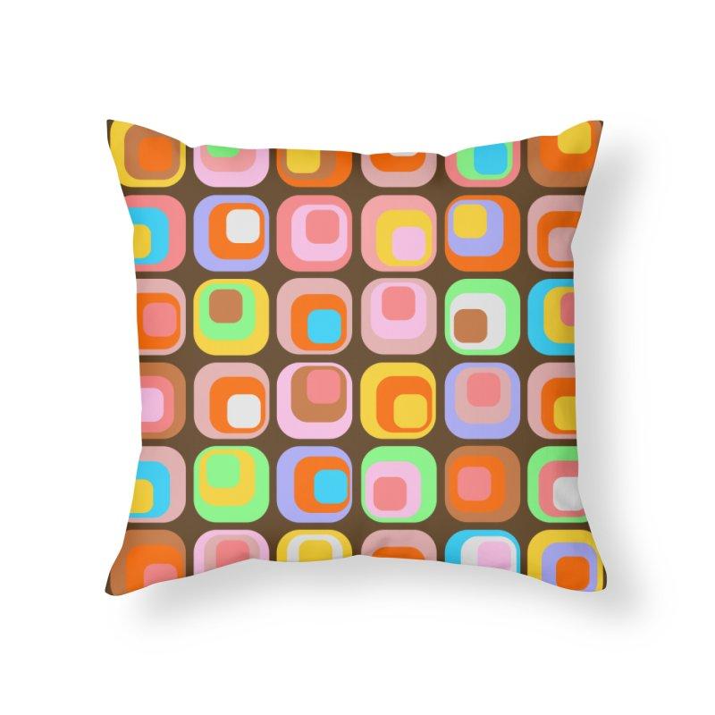 zappwaits - Retro Home Throw Pillow by zappwaits Artist Shop