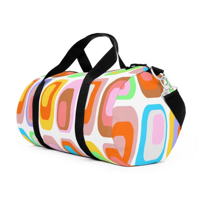 zappwaits retro 02 Accessories Duffel Bag Bag by zappwaits Artist Shop