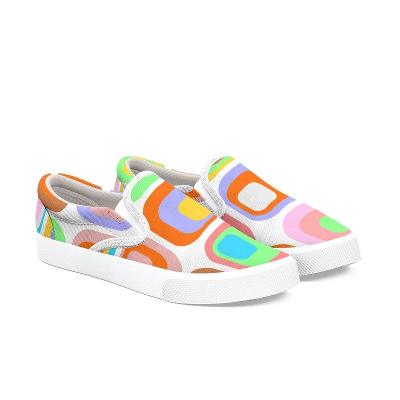 zappwaits retro 02 Women's Slip-On Shoes by zappwaits Artist Shop