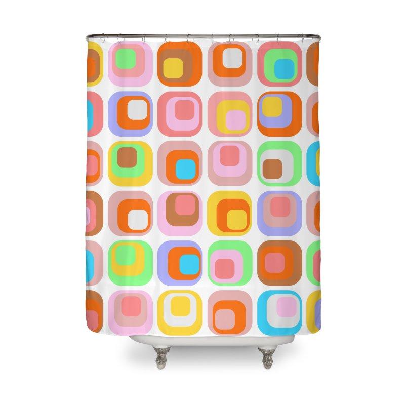 zappwaits retro 02 Home Shower Curtain by zappwaits Artist Shop