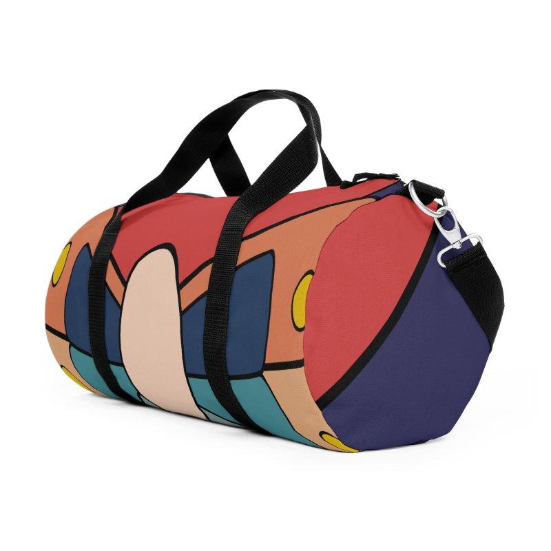 zappwaits - logo Accessories Duffel Bag Bag by zappwaits Artist Shop