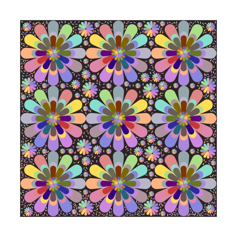 zappwaits flower power Home Bath Mat by zappwaits Artist Shop