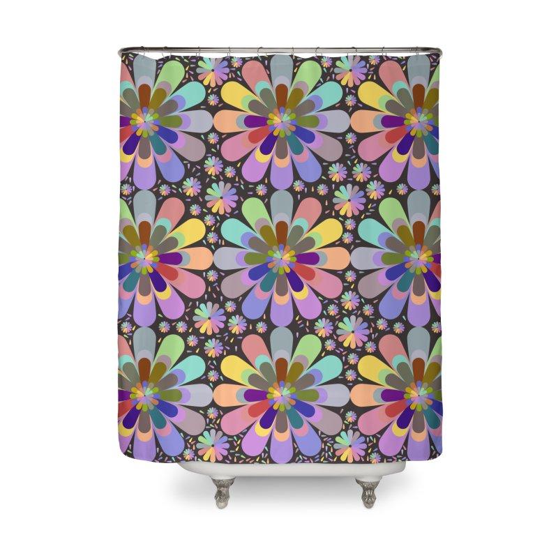 zappwaits flower power Home Shower Curtain by zappwaits Artist Shop