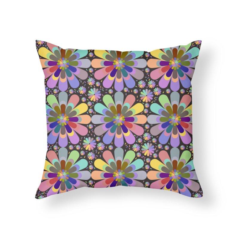zappwaits flower power Home Throw Pillow by zappwaits Artist Shop
