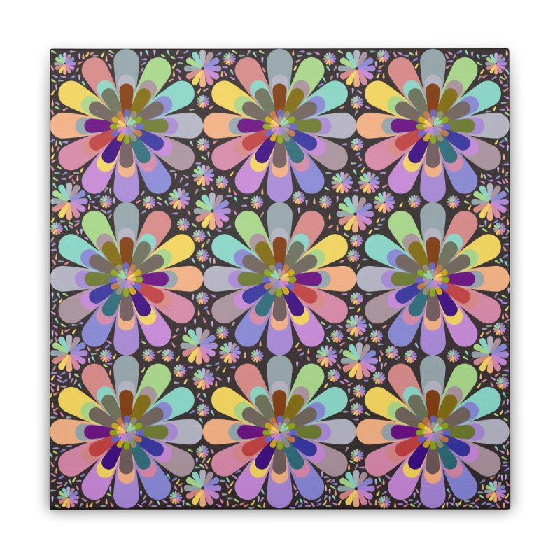 zappwaits flower power Home Stretched Canvas by zappwaits Artist Shop