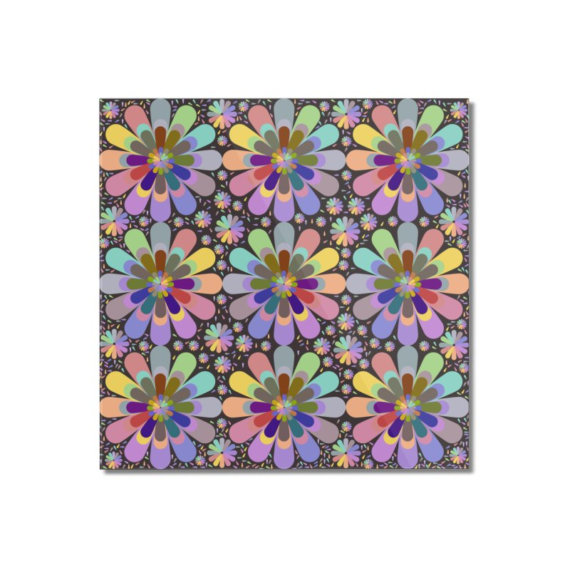 zappwaits flower power Home Mounted Acrylic Print by zappwaits Artist Shop