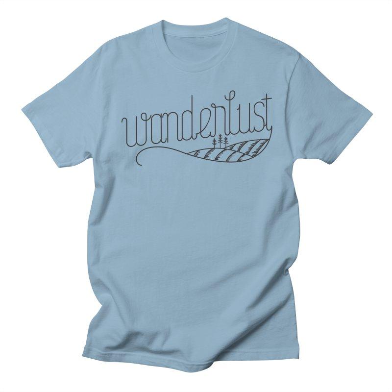 Wanderlust - Trees Men's Regular T-Shirt by zavatee's Artist Shop
