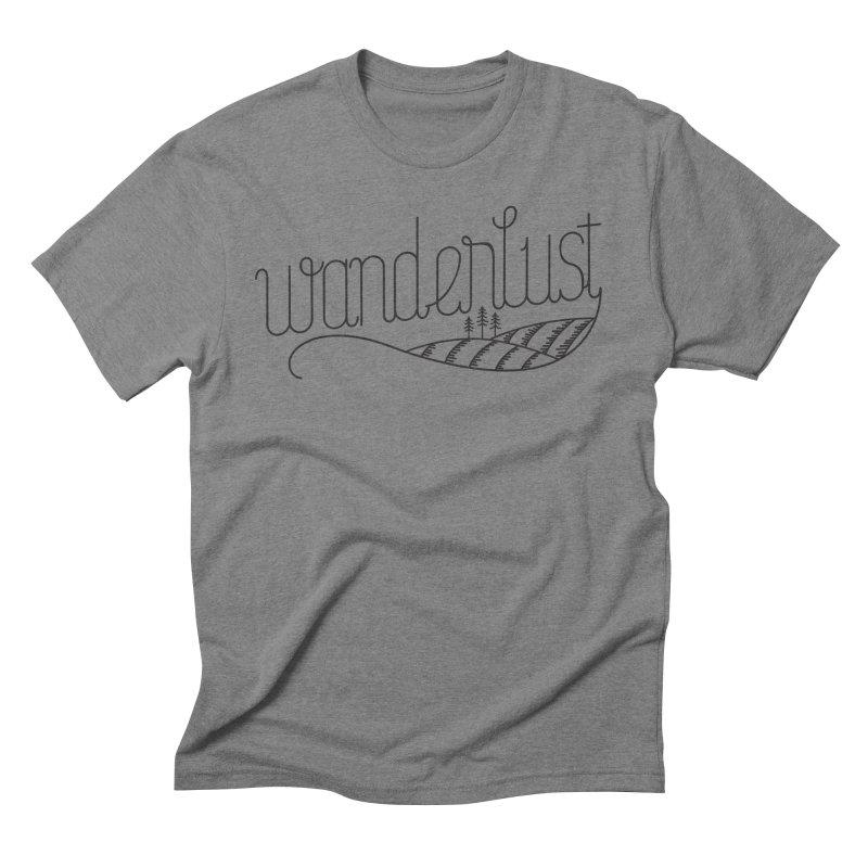 Wanderlust - Trees Men's Triblend T-Shirt by zavatee's Artist Shop